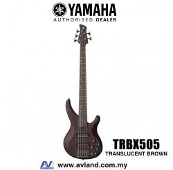 Yamaha TRBX505 5-string Electric Bass Guitar - Translucent Brown (TRBX 505/TRBX-505)