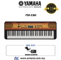 Yamaha PSR-E360 61-Keys Portable Keyboard - Maple (PSRE360 / PSR E360)