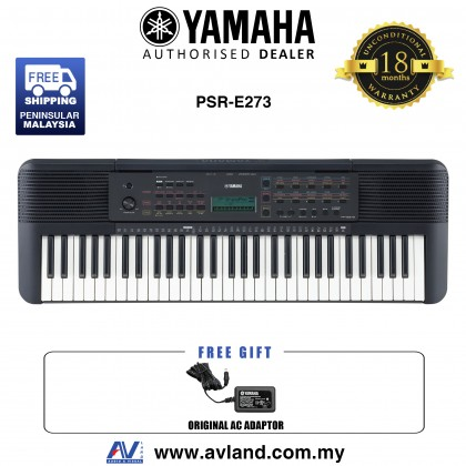 Yamaha PSR-E273 61-Keys Portable Keyboard (PSRE273 / PSR E273)