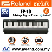 Roland FP-10 88-key Digital Piano with Roland DP-2 Pedal - Black (FP10 FP 10)