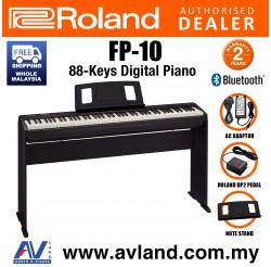 Roland FP-10 88-key Digital Piano Home Package - Black (FP10 FP 10)