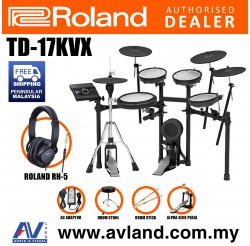 Roland TD-17KVX V-Drums Digital Drum Electronic Drum with RH-5 Headphone, Kick Pedal, Drum Throne and Drumsticks (TD17KVX / TD 17KVX)