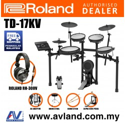 Roland TD-17KV V-Drums Digital Drum Electronic Drum with Roland RH-300V Headphone, Kick Pedal, Drum Throne and Drumsticks