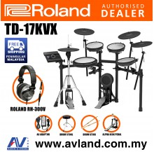 Roland TD-17KVX V-Drums Digital Drum Electronic Drum with Roland RH-300V Headphone, Kick Pedal, Drum Throne and Drumsticks