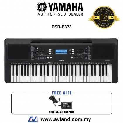 Yamaha PSR-E373 61-Keys Portable Keyboard (PSRE373 / PSR E373)