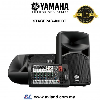 Yamaha Stagepas 400BT Portable PA with Bluetooth (Stagepas400BT/Stagepas400 BT)