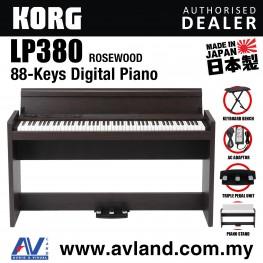 Korg LP-380 88-Key Digital Piano with Keyboard Bench - Rosewood (LP380)