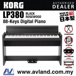 Korg LP-380 88-Key Digital Piano with Keyboard Bench - Black Rosewood (LP380)