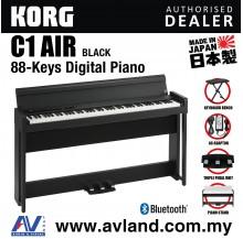 Korg C1 Air Digital Piano with Keyboard Bench - Black (C1AIR / C-1)