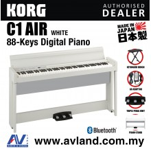 Korg C1 Air Digital Piano with Keyboard Bench - White (C1AIR / C-1)