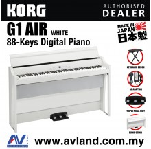 Korg G1 Air Digital Piano with Keyboard Bench - White (G1AIR / G-1)
