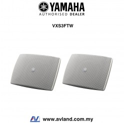 Yamaha VXS3FTW VXS Series Compact Surface Mount Speaker - White Pair (VXS-3FTW)