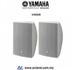 Yamaha VXS5W VXS Series 5.25 Inch Surface Mount Speaker - White Pair (VXS-5W)