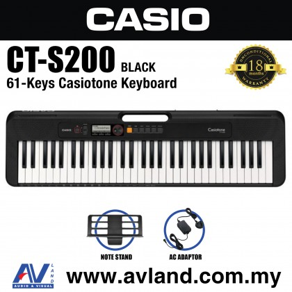 Casio CT-S200 61-Keys Casiotone Keyboard - Black (CTS200/CT S200)
