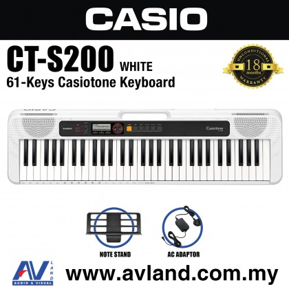 Casio CT-S200 61-Keys Casiotone Keyboard - White (CTS200/CT S200)