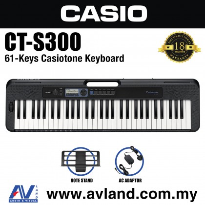 Casio CT-S300 61-Keys Casiotone Keyboard (CTS300/CT S300)
