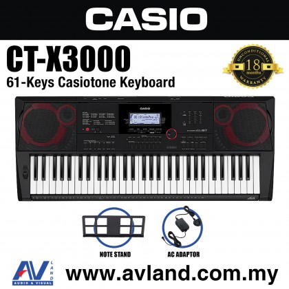 Casio CT-X3000 61-Keys Portable Keyboard (CTX3000/CT X3000)