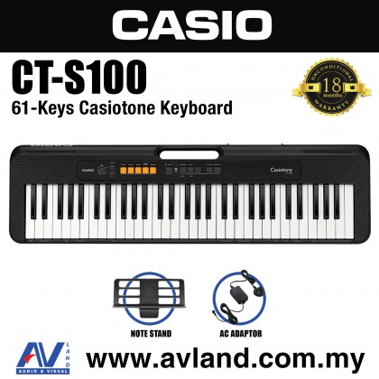Casio CT-S100 61-Keys Casiotone Keyboard (CTS100/CT S100)