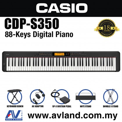 Casio CDP-S350 88-key Digital Piano With Keyboard Stand And Keyboard Bench (CDPS350)