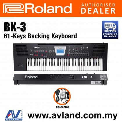 Roland BK-3 61-Keys Black Backing Keyboard (BK3 BK 3)