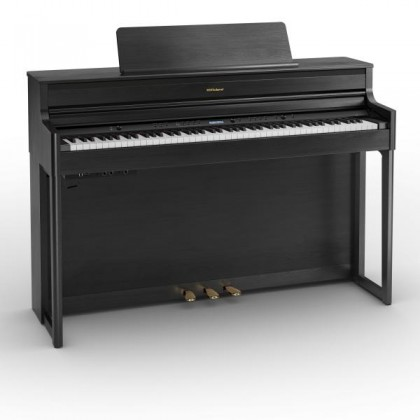 Roland HP704 88-keys Digital Piano with Piano Bench - Charcoal Black (HP-704 HP 704)
