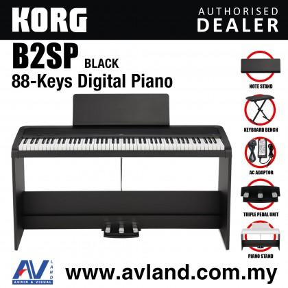 Korg B2SP 88-Key Digital Piano with Keyboard Bench - Black (B2-SP/B2 SP)