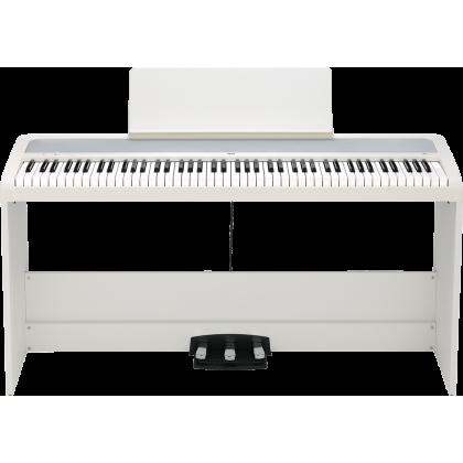 Korg B2SP 88-Key Digital Piano with Keyboard Bench - White (B2-SP/B2 SP)