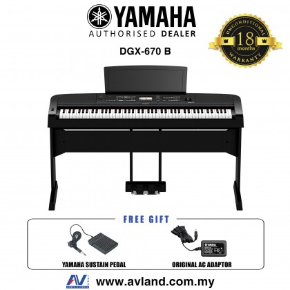 Yamaha DGX-670 88-Keys Portable Grand Digital Piano - Black (DGX670 / DGX 670) *Crazy Sales Promotion*